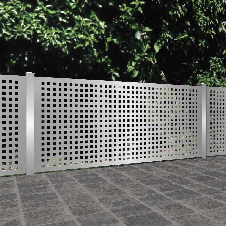 Gartenzaun Edelstahl Laserschnitt Design QL