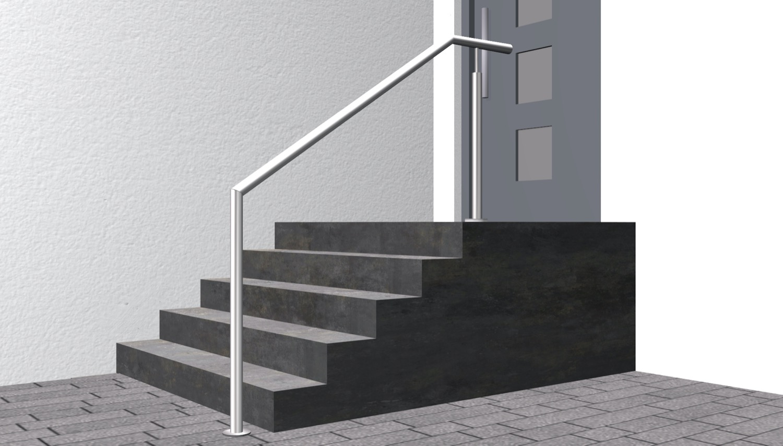 Treppenhandlauf Edelstahl FAS
