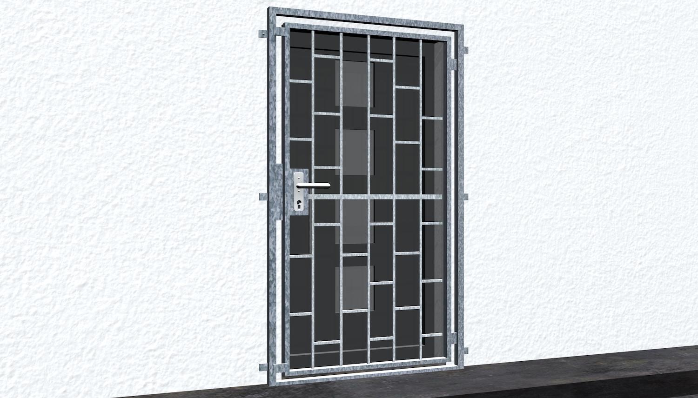Gittertür verzinkt Leiter