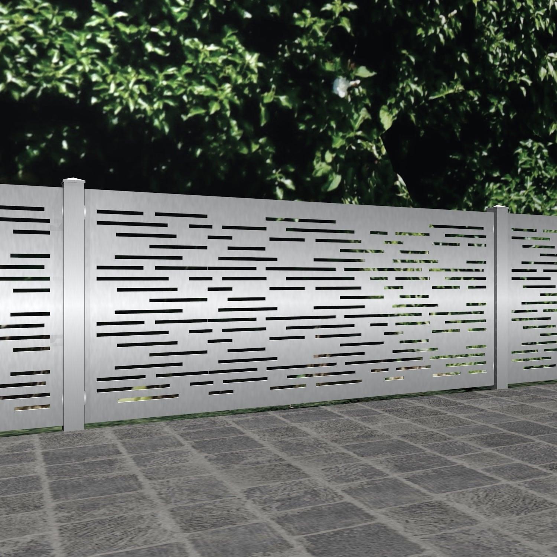 Gartenzaun Edelstahl Laserschnitt Design SF HO