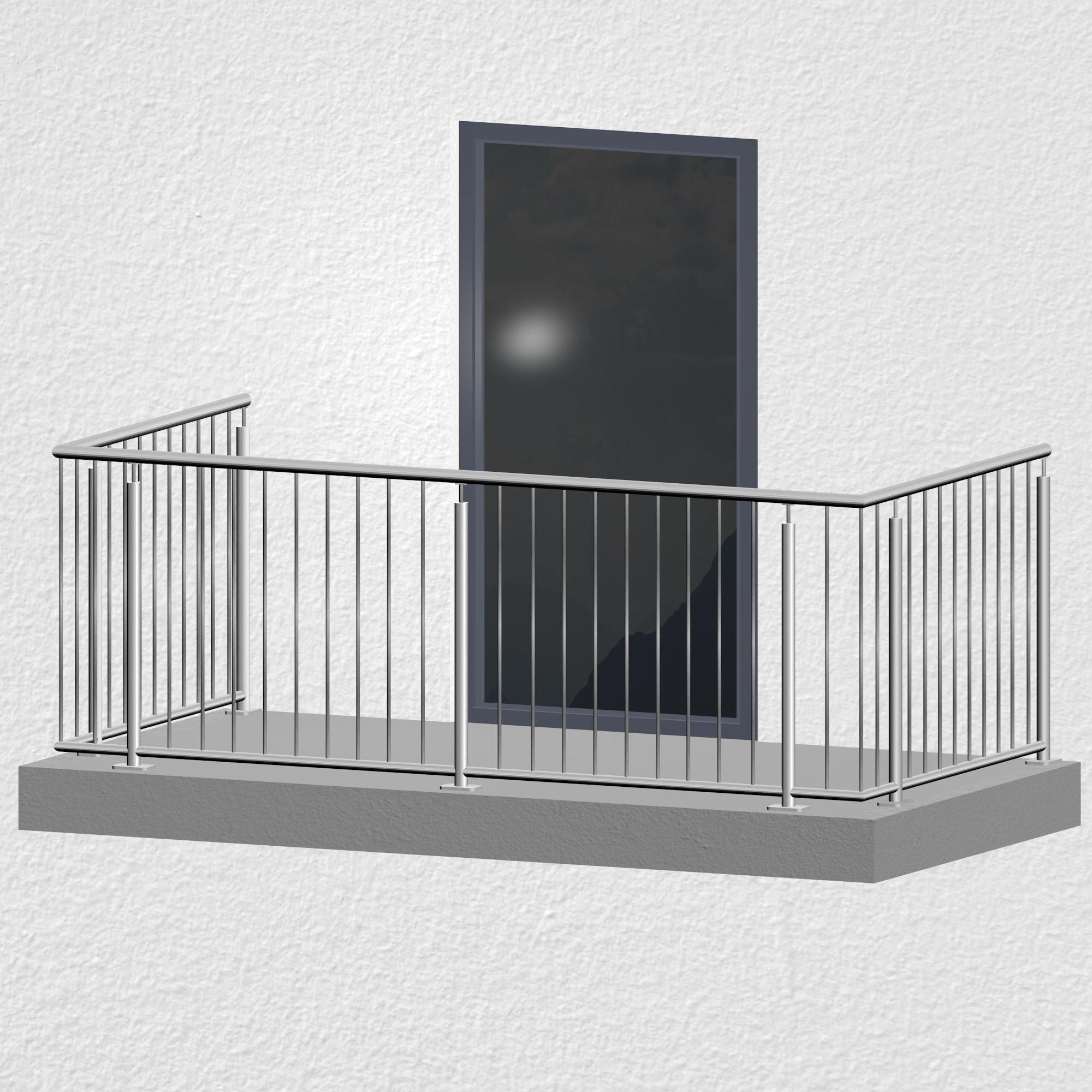 Balkongeländer Edelstahl Standard Modern
