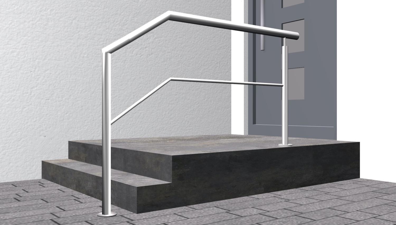 Treppengeländer Edelstahl FAS-CL 1-6 Querstreben