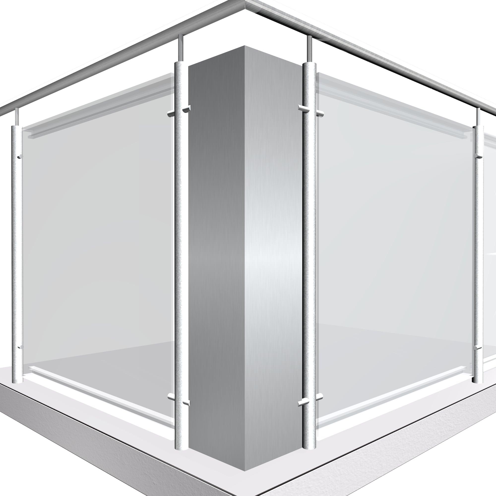 Eckelement Aluminium Vollblech