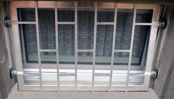 Mobiles Fenstergitter verzinkt - Modell Leiter