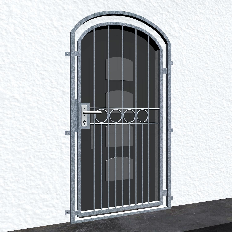 Gittertür verzinkt Ringreihe Oberbogen