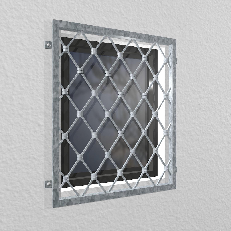 Fenstergitter verzinkt Rauten