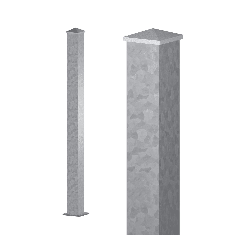 Zaunpfosten verzinkt 80x80x3 mm
