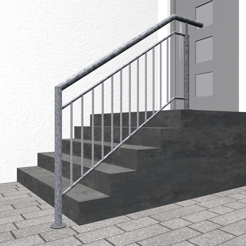 Treppengeländer verzinkt  FAS Stabfüllung