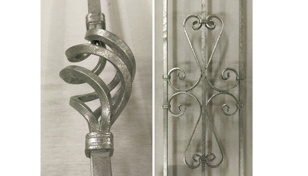 Fenstergitter verzinkt - Modell Schnörkel Detailfoto