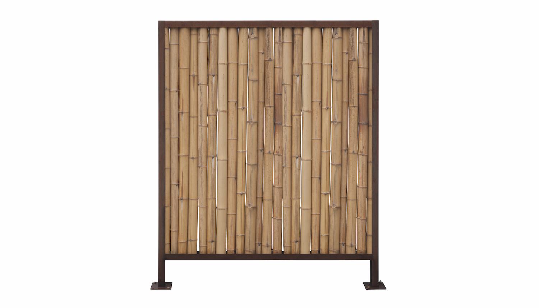 Sichtschutzwand Cortenstahl Bambus