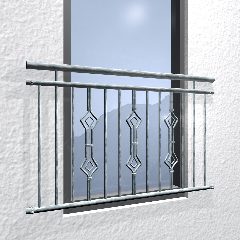 Französischer Balkon verzinkt Sanduhr Triple Ornament