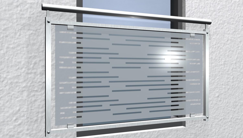 Französischer Balkon Edelstahl Designglas SF HO
