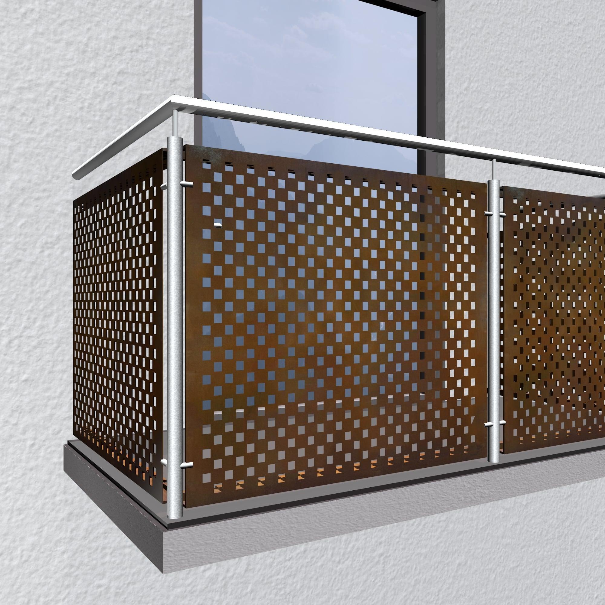 Balkonverkleidung Cortenstahl QL VE