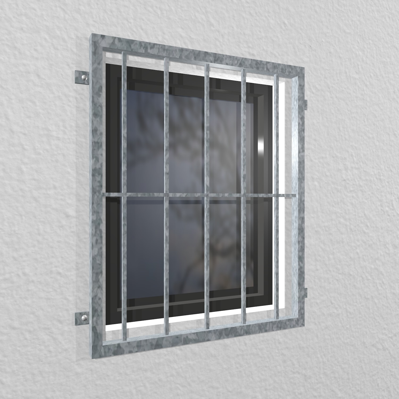 Fenstergitter verzinkt Vertikalstab