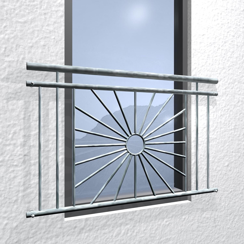 Französischer Balkon verzinkt Sonne Kreis