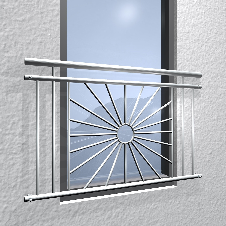 Französischer Balkon Edelstahl Sonne Kreis