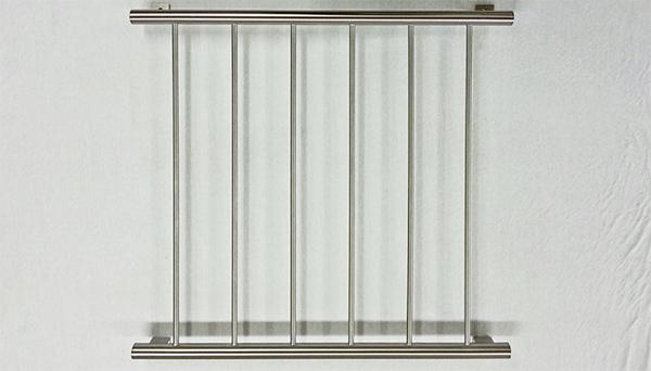 Fenstergitter Edelstahl - Modell Vertikalstab 2