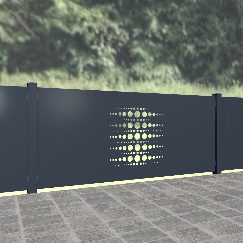 Gartenzaun Alu Laserschnitt Design PE 2