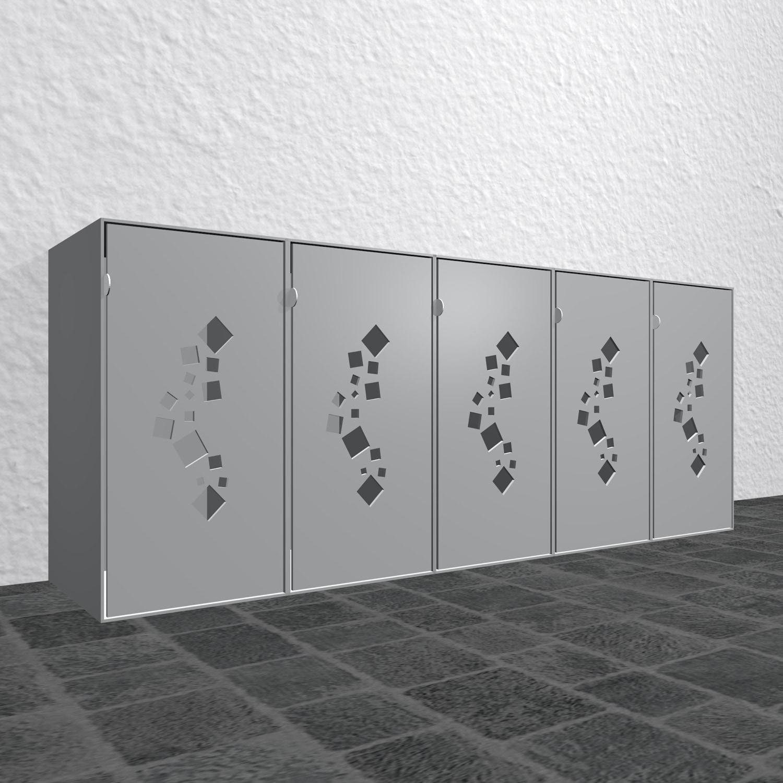 Design Mülltonnenbox Alu Cube Quadrate