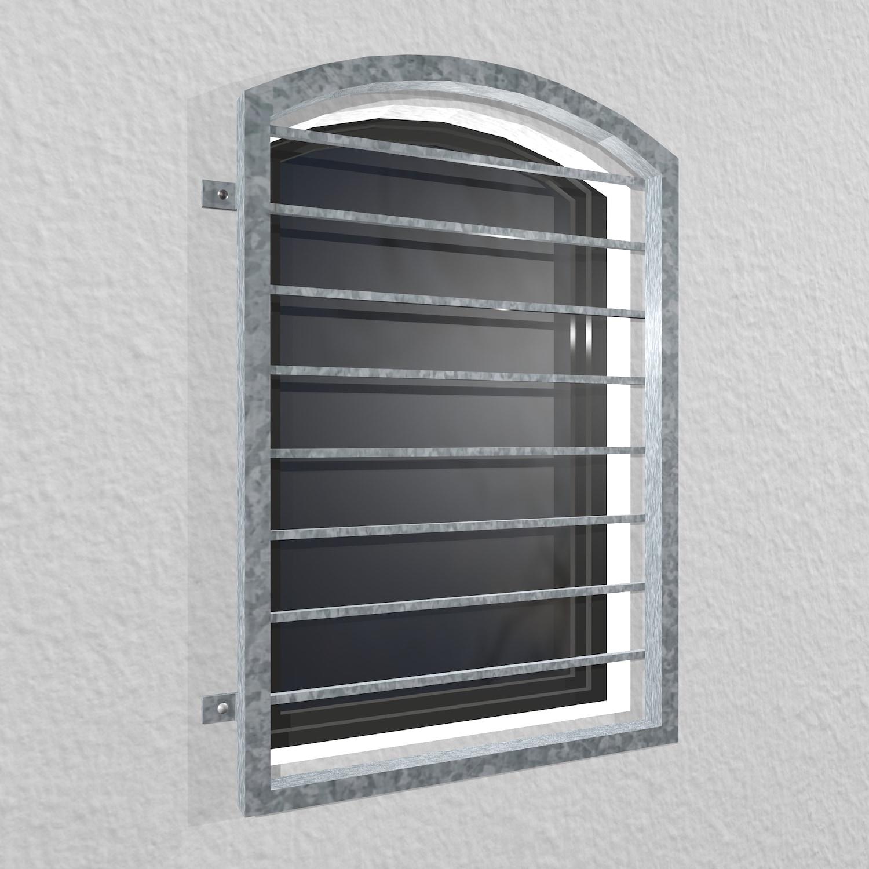 Fenstergitter verzinkt Querstab Oberbogen