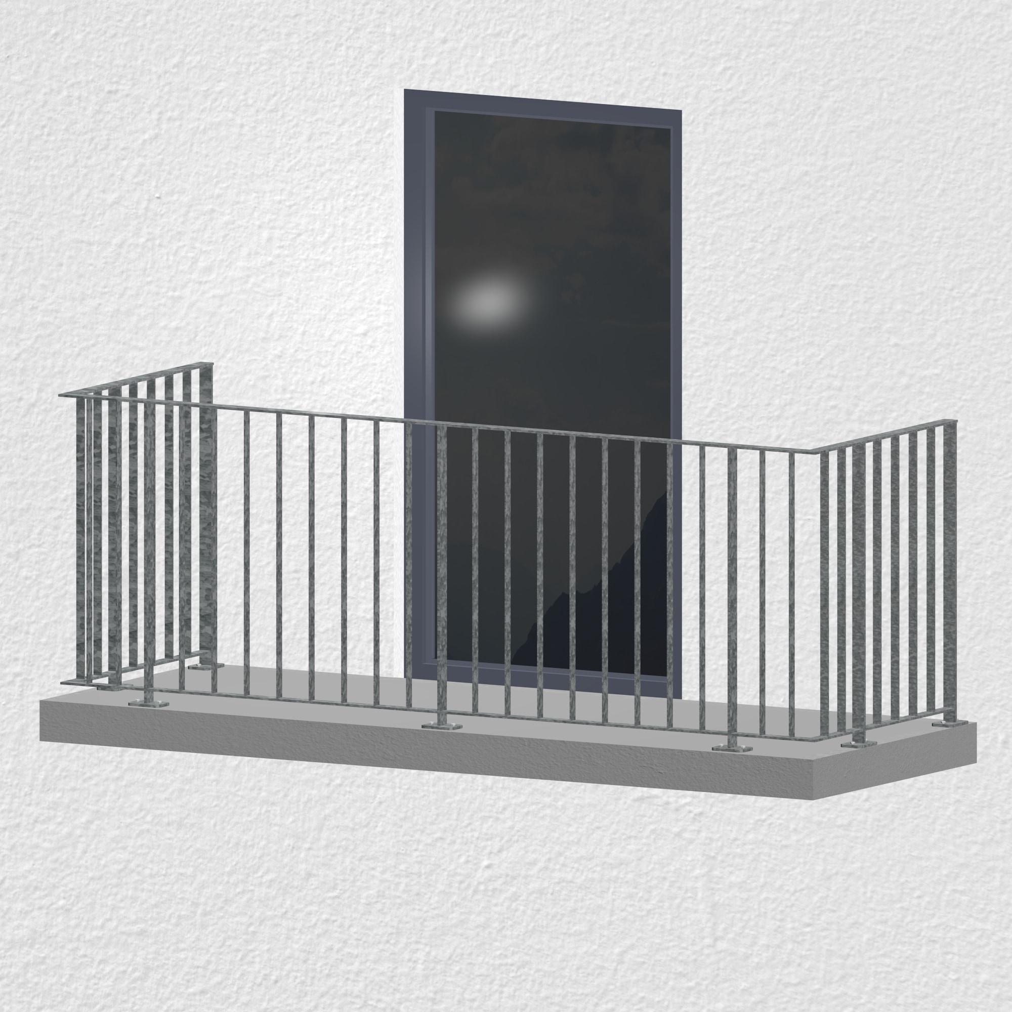 Balkongeländer verzinkt Flachstahl Modern