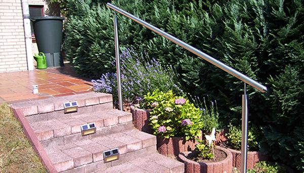 Treppenhandlauf Edelstahl - Modell freistehend mit Stift