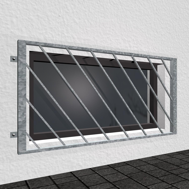 Kellerfenstergitter verzinkt Diagonalstab 2