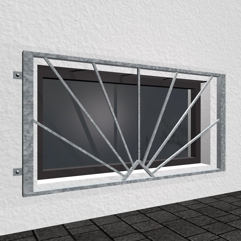 Kellerfenstergitter verzinkt Sonne