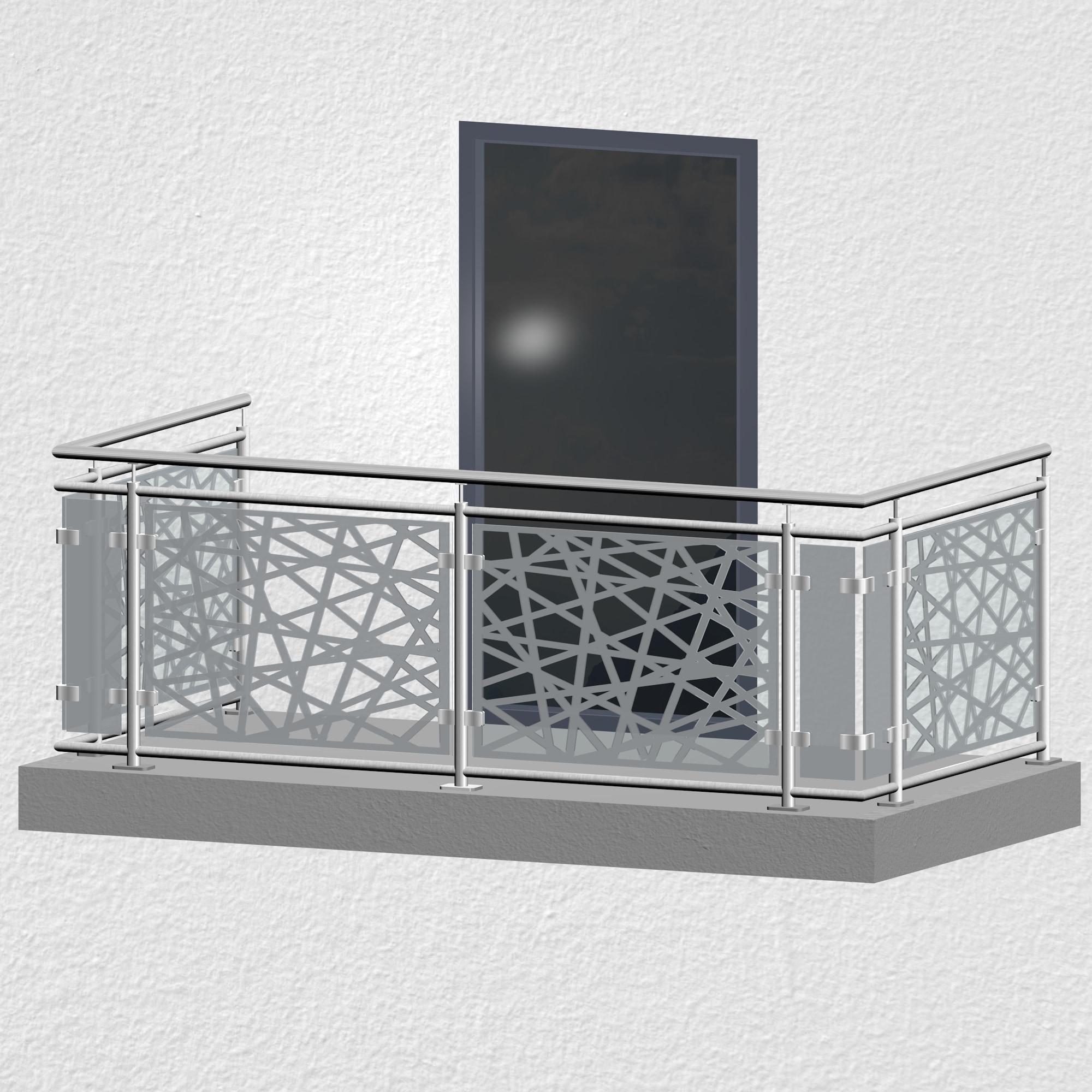 Balkongeländer Edelstahl Designglas AB 1