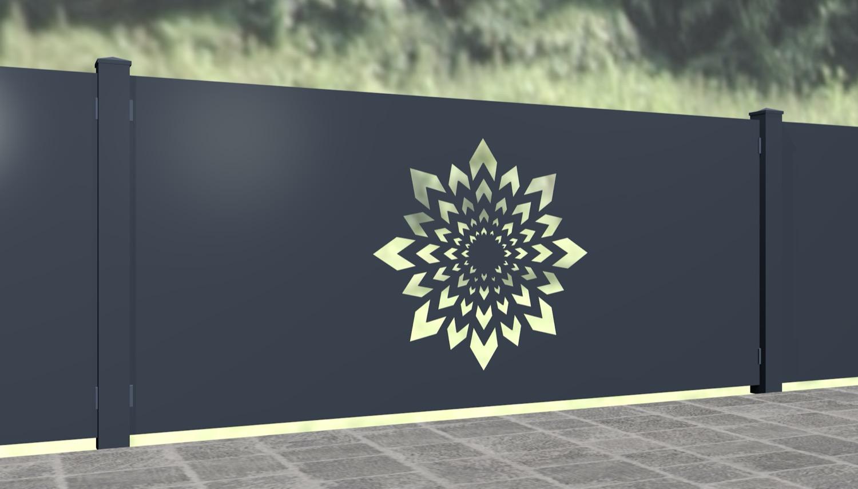Gartenzaun Alu Laserschnitt Design KL