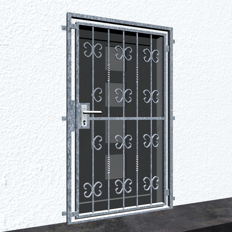 Gittertür verzinkt Barock