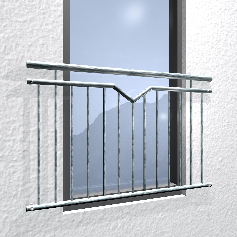 Französischer Balkon verzinkt Einfach-V