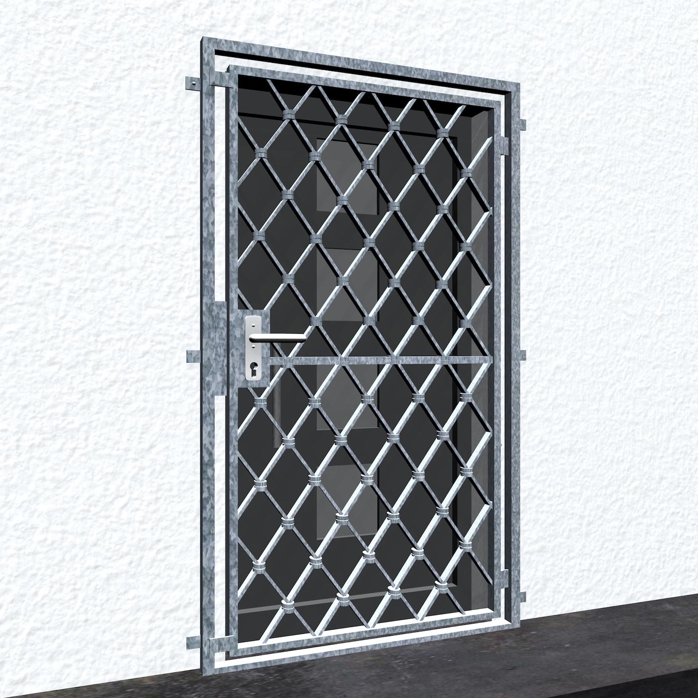 Gittertür verzinkt Rauten