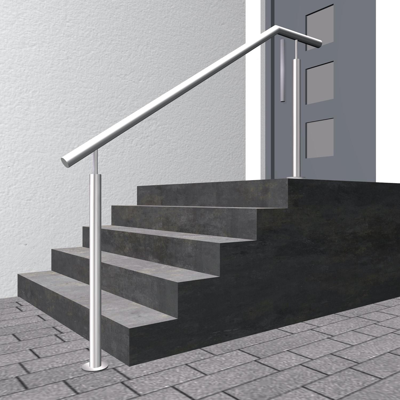 Treppenhandlauf Edelstahl FS