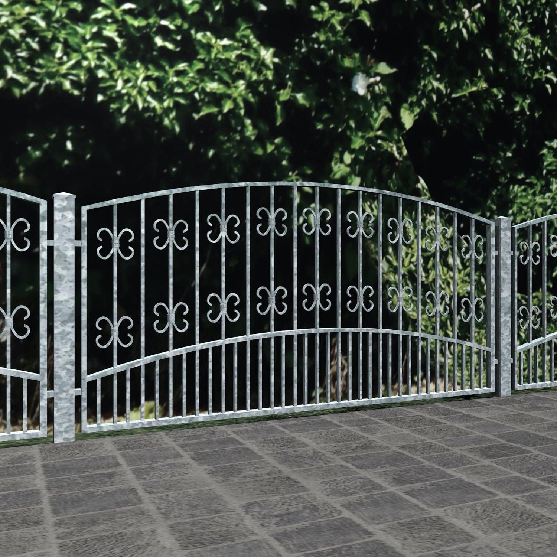 Gartenzaun verzinkt Barock, OB