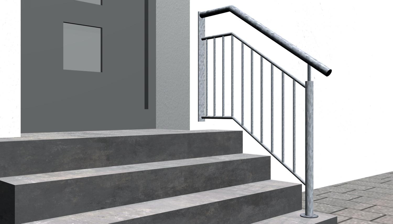 Treppengeländer verzinkt  WTS Stabfüllung
