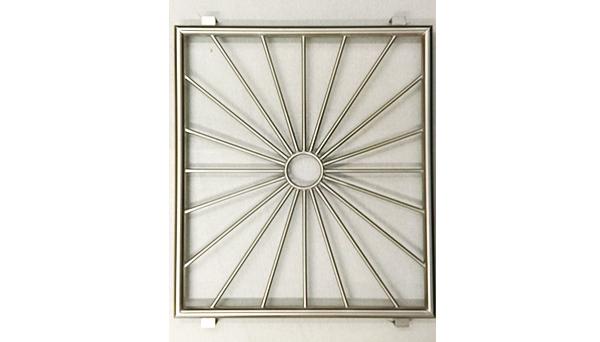 Fenstergitter Edelstahl - Modell Sonne Kreis