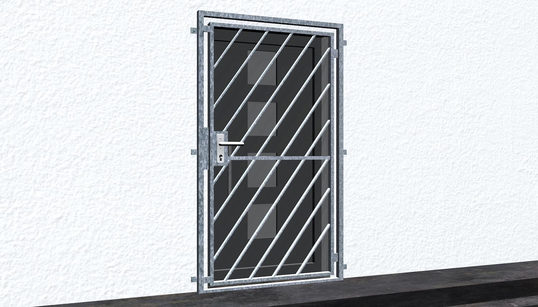 Gittertür verzinkt Diagonalstab 2