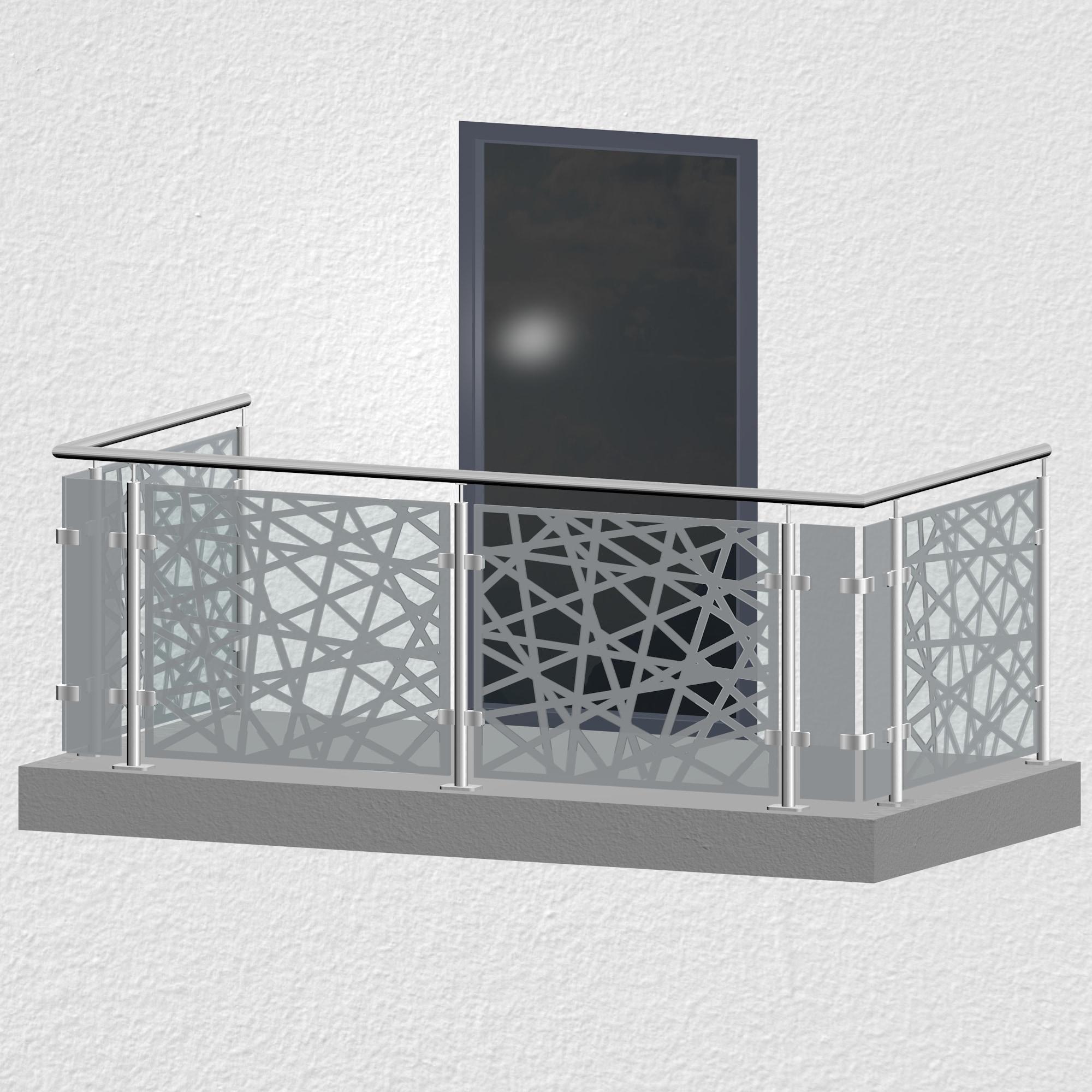 Balkongeländer Edelstahl Designglas AB 1 MO