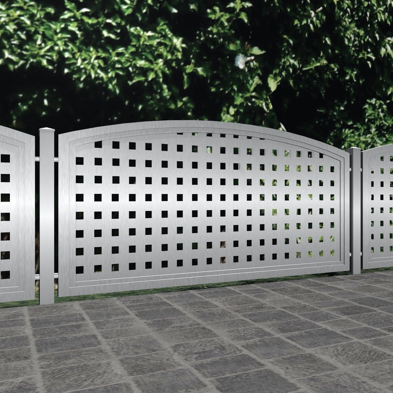 Gartenzaun Edelstahl Sichtschutz QL, OB