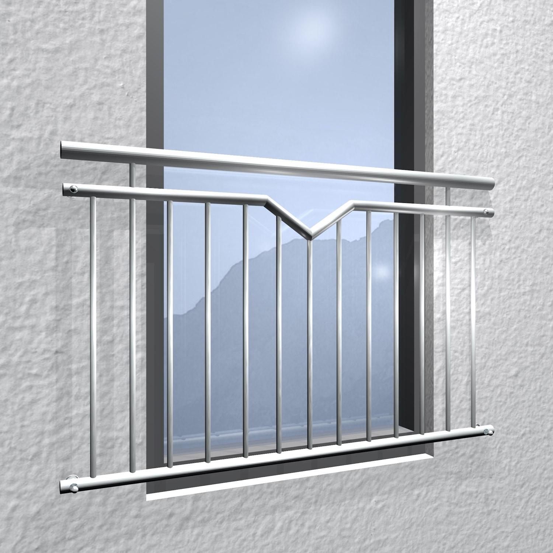 Französischer Balkon Edelstahl Einfach-V