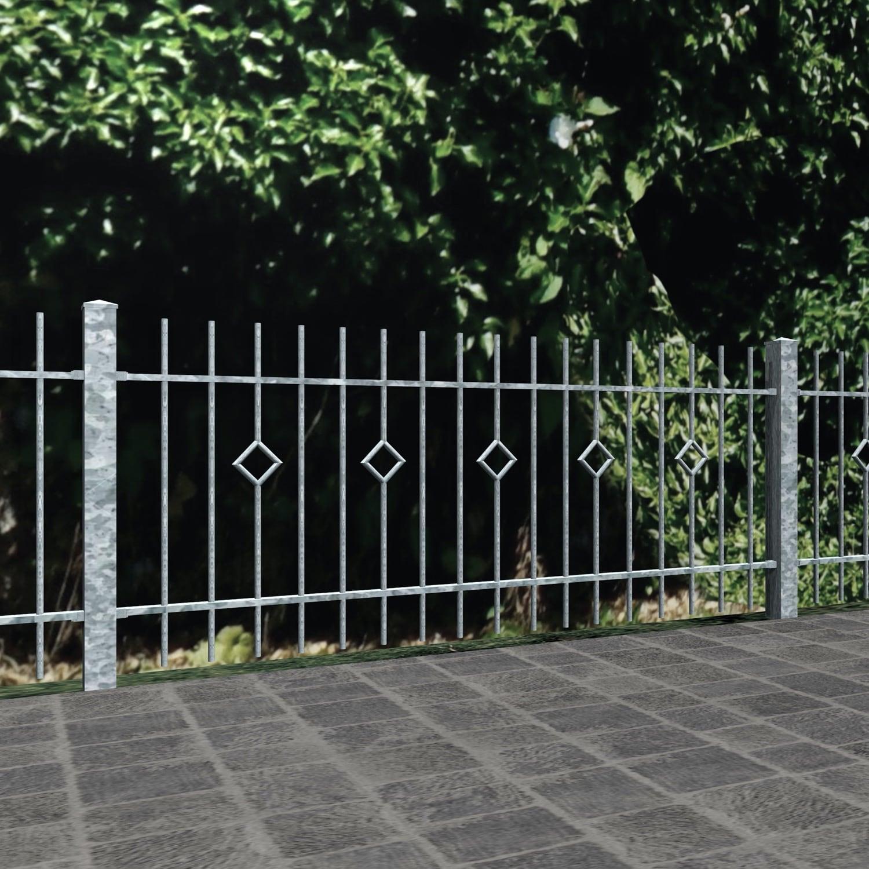 Gartenzaun verzinkt Karo Stab, GE